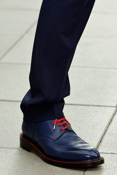 ♂ man's accessories blue shoes with red shoelace Dior Homme S/S '13