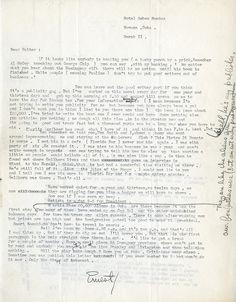 Ernest Hemingway letter (page 1)