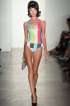 Jeremy Scott | Spring 2014 RTW.  Telling from the popularity of this collection, we can hope to see spin-offs of the TV test pattern this Spring.