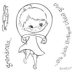 "S.W.A.L.K / SWALK Crafter's Companion Stamp ""Grandma"""