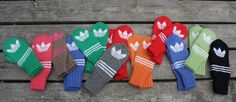 Kaksinkasin: Adidas-lapaset Adidas, Mittens, Knit Crochet, Gloves, Felt, Wool, Knitting, Hats, Pattern