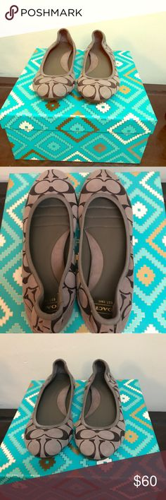 Coach Ballet Flats It doesn't get more classy and classic than this pair of EUC pair of monogram Coach ballet flats. Size 7.5. All proceeds go to my puppy's recovery ❤️ https://www.gofundme.com/bella-bug039s-road-to-recovery Coach Shoes Flats & Loafers