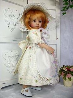 """Vintage Linens""  OOAK Ensemble for 13"" Little Darling  by ~Specialdee Designs~"