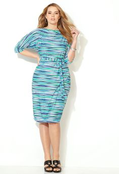 Abstract Dot Striped Dress