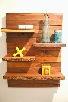 Modern Walnut Shelving Unit by moderncre8ve on Etsy, $239.00
