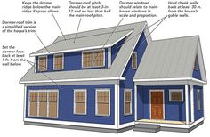 I'm planning to add a shed dormer to my house. What are the different ways to tie the shed roof into the existing roof? Mike Guertin, a contributing editor for Fine Homebuilding, explains the different ways to tie shed dormers into an existing roof. Dormer Roof, Shed Dormer, Dormer Windows, Dormer House, Dormer Bungalow, Attic Apartment, Attic Rooms, Attic Spaces, Attic Bathroom