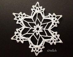 Crochet snowflake Crochet Snowflake Pattern, Crochet Stars, Christmas Crochet Patterns, Crochet Snowflakes, Christmas Snowflakes, Thread Crochet, Crochet Motif, Snow Flakes Diy, Crochet Ornaments