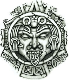 Aztec Sun Medallion