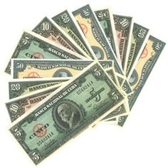 Check out the deal on Reproduced old Cuban bills. Set of  (20) at CubanFoodMarket.com