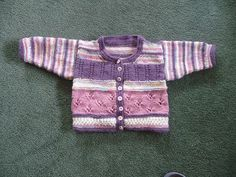 "Textured ""patchwork"" cardigan can be knit with multiple or solid colours."