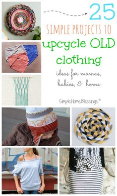 simple upcycle clothing ideas for mamas, babies, and home,  Clean out your closet and then make these for gifts, for yourself, for FUN!