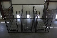 inside outside multiple kennel system with raised flooring and pull up vertic. inside outside multiple kennel system with raised flooring and pull up vertical siding doors Dog Kennel Cover, Diy Dog Kennel, Kennel Ideas, Cheap Dog Kennels, Building A Dog Kennel, Dog Kennel Designs, Outdoor Dog, Indoor Outdoor, Outdoor Steps