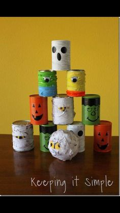 Halloween cans