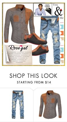 """""""Rosegal 2"""" by lili-876 ❤ liked on Polyvore featuring men's fashion and menswear"""