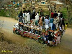 So fantastic photography of fully loaded Bus in Punjab Pakistan