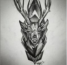 Ideas Of Cool Geometric Tattos Tricep Tattoos, Forearm Tattoos, Body Art Tattoos, Sleeve Tattoos, Cool Tattoos, Buck Tattoo, Deer Head Tattoo, Cover Up Tattoos For Men, Tattoos For Guys