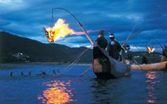 Cormorant fishing on the Nagara River in Gifu. This is a great site, lots of important details.