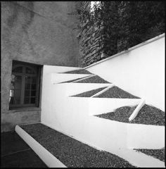 Cubist Garden, designed by Pablo Picasso, at the Villa de Noailles ...