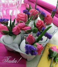 Originelle Blumendekoration zu Ostern - romantisches Ambiente