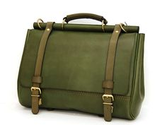 Roof Covering, Green Colors, Leather Bag, Messenger Bag, Satchel, Business, Casual, Bags, Handbags