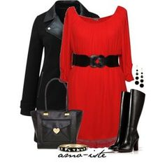 Red Dress - Plus Size, created by amo-iste on Polyvore