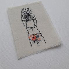Broderie de dos et en culotte - Trois petits riens - embroidery - broderie minimaliste