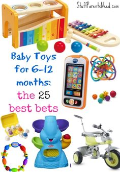 baby toys 6-12 months collage