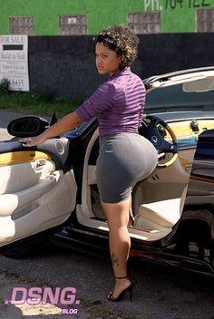 Women cars in black sexy