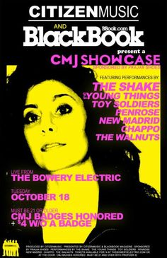Citizen Music + Blackbook Magazine Present: The Shake. The Young Things. Toy Soldiers. Penrose. New Madrid. Chappo. The Walnuts.