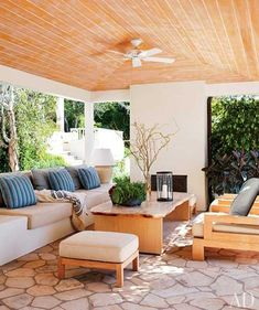 covered patio design and outdoor furniture