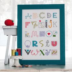 Stitch Supply Co. is pleased to share this whimsical alphabet sampler which is sure to liven up your space with its bold colors and charming lettering!Pattern I