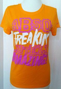 ffdb1165 Nike Women's Graphic T-Shirt Size S Orange Athletic Short Sleeve #Nike  #ActivewearShortSleeve