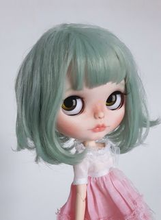 Second Payment  This listing is reserved, please do not purchase.  Romy is adopted ♡  The base doll for Romy is a Factory RBL Blythe doll with beautiful sea foam green tousled hair. She has cute freckles, delicate eyebrows, peachy-pink glossed lips, and blushed cheeks with peach shimmer dust. She has been handmade by me with love and great attention to detail.  She has had the following customisation work:  -face sand matted -nose, lips and philtrum carved -new faceup using artist quality…