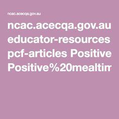 ncac.acecqa.gov.au educator-resources pcf-articles Positive%20mealtimes%20Dec09.pdf