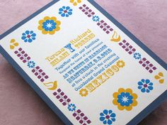 Mexican Floral Folk Wedding Invitation Peasant Print from Imbue You Wedding