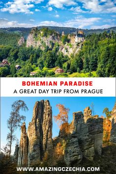 Bohemian Paradise belongs to the most popular tourist destinations in Czechia. It is a perfect destination for a day trip from Prague. The beauty of the landscape and the historic landmarks amaze visitors. Europe Travel Tips, European Travel, Day Trips From Prague, Future Travel, Dream Vacations, Trip Planning, Tourism, Paradise, Around The Worlds