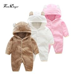 11d6b31c90fb Tem doger winter baby rompers newborn baby boy girls flannel jumpsuit  infant girl cartoon rompers baby