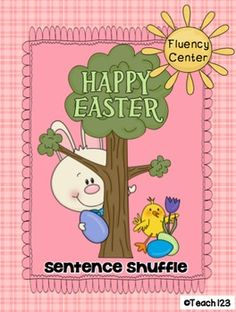 Easter Fluency Center: Sentence Shuffle -2nd grade reading level - aligned with 1st, 2nd, and 3rd grade Common Core Standards. $