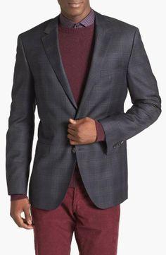 Love the Boss Hugo Boss BOSS HUGO BOSS 'James' Trim Fit Plaid Sportcoat on Wantering.