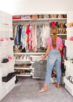 A Mix of Min provides tips on optimizing closet space with The Container Store and their customer Elfa closets.