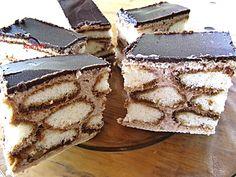 Babapiskótával töltött ostya Hungarian Cake, Hungarian Recipes, Weekday Meals, Christmas Treats, Cake Cookies, Tiramisu, Food And Drink, Cooking Recipes, Sweets