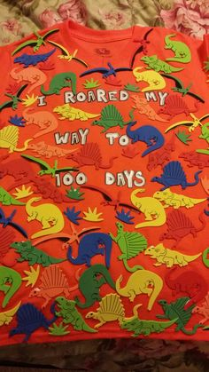 Our 100 days of school shirt !!