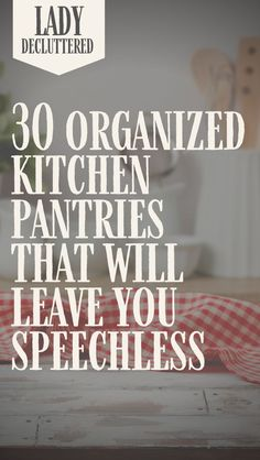30 of the superbly organized pantries that will inspire you We have been there once or twice in our lives, drooling over these marvelous, gorgeous, and brilliantly organized pantries that bring a tear to our eye. We then take a quick peek at our messy pan Deep Pantry Organization, Organization Hacks, Kitchen Organisation, Kitchen Pantry, Kitchen Storage, Organized Kitchen, Pantry Cabinets, Pantry Storage, Kitchen Hacks