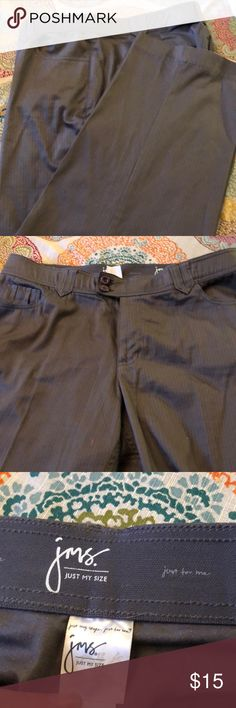25029faf01d Just My Size dress pants 18W Like new Gray dress pants very thin pin stripe  that