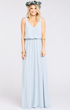 It sounds weird but if the Jocelyn Maxi and the Kiersten Maxi had a baby, it would be ever perfected Kendall Maxi. A soft V neck and low back are ultra feminine and flatter every body. Chill enough for a little pointy toed bootie and classy enough for an elegant heel. Kendall may be a young Mu but she is def on track to be your new go-to maxi. *MADE IN THE GORGE USA* *This Kendall is generous. We recommend sizing down if you're in between sizes. *100% Poly Chiffon *Lined to the ...