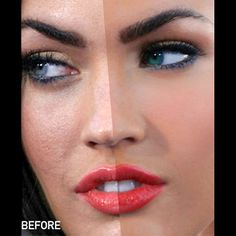 Celebs before and after photoshop. Makes me feel so much better about myself..