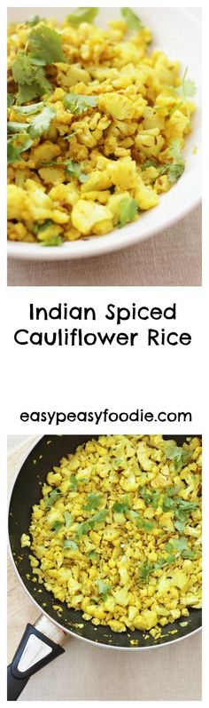 This Indian Spiced Cauliflower Rice is a quick, easy and wonderfully nutritious alternative to regular rice. #cauliflower #cauliflowerrice #caulirice #spicedcauliflowerrice #healthyfood #lowcarb #lowcalorie #vegan #vegetarian #glutenfree #dairyfree #easymidweekmeals #easymeals #midweekmeals #easydinners #dinnertonight #dinnertonite #familydinners #familyfood #easypeasyfoodie #cookblogshare Spiced Cauliflower, Cauliflower Recipes, Midweek Meals, Easy Meals, Vegetarian Recipes, Healthy Recipes, Vegan Vegetarian, Curry Recipes, Paleo