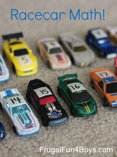 Here's a fun preschool math activity that teaches counting and number recognition through racing Hot Wheels cars! For preschoolers, often the most motivating way to learn to count and recognize written numbers is through play. The boys are STILL obsessed with Hot Wheels (if you've been following our blog, you'll know that this has lasted …