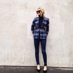 Valentine Gauthier x Vila jacket - Sandro jeans - Dune shoes - Uniqlo knit - Céline sunglasses...