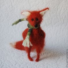Купить Лисичка вязаная рыжая - лиса, лисичка, лис, лисенок, лисенок тедди, лисичка вязаная